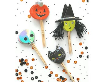 Meri Meri Halloween. Meri Meri. Halloween Cupcake Toppers. Halloween Toppers. Halloween Party. Halloween Decorations.