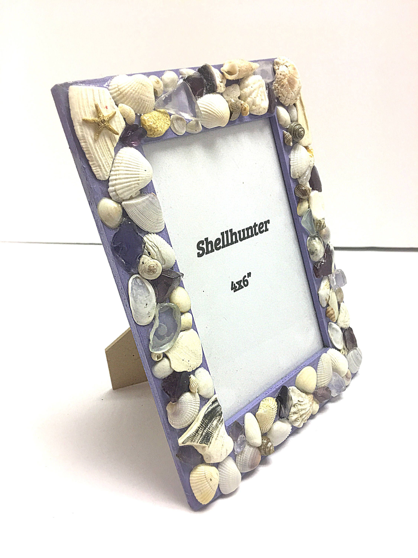Decoración, concha cuadro marco marco, seashell, marco, decoración ...