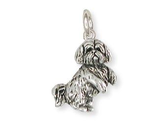 Silver Lhasa Apso Charm Jewelry  LSZ20-C