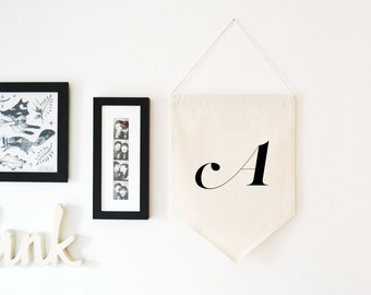 Letter, Name Initial A-Z Wall Hanging Banner