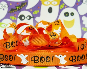 "5/8"" Halloween  Embossed Grosgrain Ribbon"