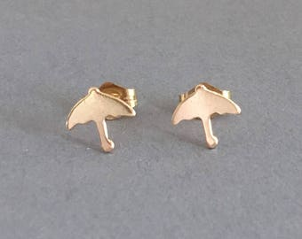 Umbrella Post Earrings Gold Fill or Sterling Silver