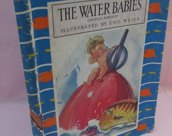 Vintage 1950s Children's Book - The Water Babies by Charles Kingsley