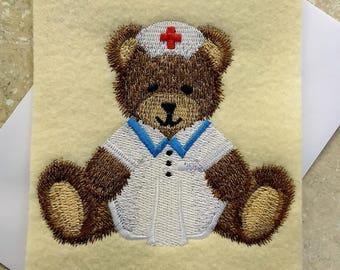 Any Occasion Cards - Teddy Bear Nurse