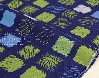 Japanese Fabric Kokka Keshiki denen - navy blue - 50cm