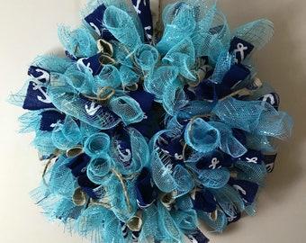 "Nautical ""Relax"" Wreath Handmade"