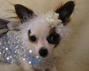 NEW - Wedding bridal Headband for Pet - 2 to 20 lb dog or cat