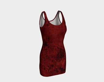 womans all over blood pattern halloween, zombie dress