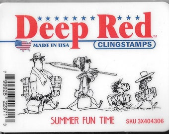 Deep Red Cling Stamps --  Summer Fun Time  -- NEW -- (#2422)