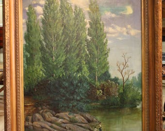 Antique Spanish signed and dated 1883 painting
