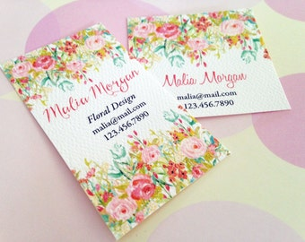 Personalized Business Cards, Custom Business Cards, Floral Cards