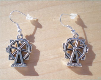 Ferris Wheel Earrings, Fair Earrings, Theme Park Earrings, Jewelry Findings