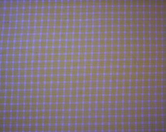 Checks fabric/Checkered design fabric/Yellow and white fabric/spring fabric/Quilt fabric/Craft sewing/Spring sewing project/Country fabric