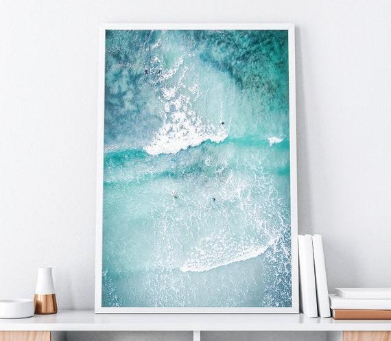 ocean art print ocean poster surf art print beach surf