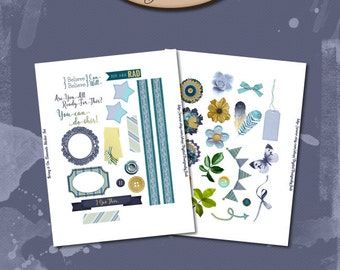 Daily Planner, Digital, Printable, Element Stickers: Bring It On