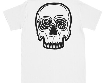 Crazy Eyes Skull T-Shirt White