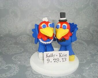 Custom Handmade Jayhawks Wedding Cake Topper