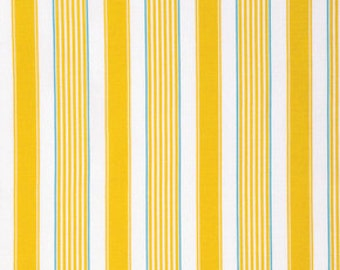 Butterfly Garden Stripe Yellow - PWDF230 Dena Designs Dena Fishbein 100% Quilters Cotton Available in Yards, Half Yards and Fat Quarters