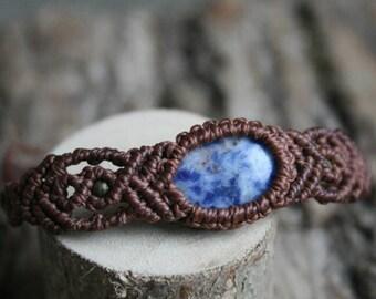 Macrium bracelet with sodalite, macrium jewelry with healing