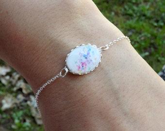 Butterfly Bracelet- Charm Bracelet- Tiny Jewelry- Butterfly Jewelry- Pastel Bracelet