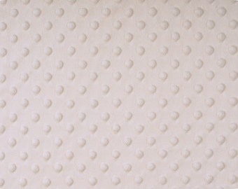Ivory Cuddle Dimple Minky Fabric by Shannon Fabrics