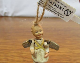 Vintage Folk Art Angel Ornament