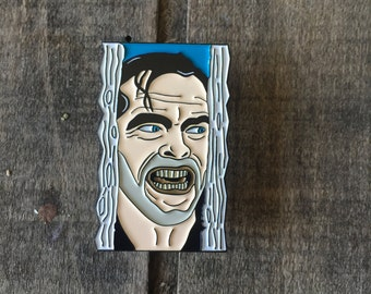 The Shining Enamel Pin, Jack Torrance Here's Johnny (Also Available as a Set with Wendy!)