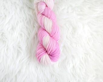 berry whipped cream - MCN dk weight yarn - merino cashmere nylon