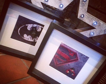DeadPool lego mini-figure and print framed handmade picture frames