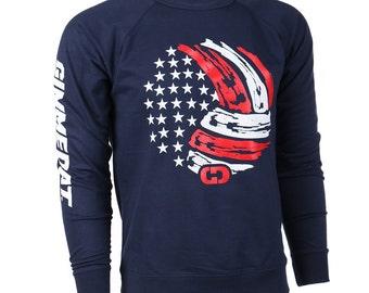 GIMMEDAT USA Volleyball Crew Neck Sweatshirt, Volleyball Sweatshirts - Free Shipping!