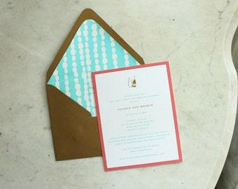 wedding shower invitation - stock the bar