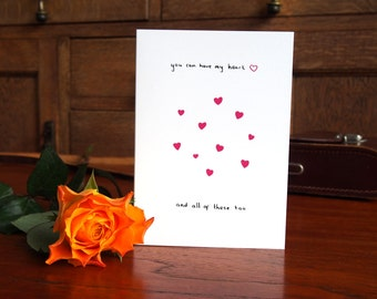SALE * You Can Have My Heart Card // Valentines Card // Anniversary Card // Love Card