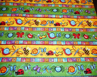 "Cotton Fabric Brother and Sister Design item 838, measures 25 1/2"" by 42"""