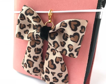 Leopard Love Planner Bow Charm / Traveler's Notebook Bow Charm