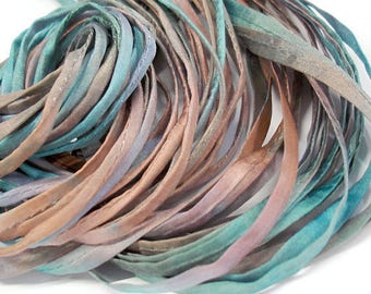 "5PC. REFLECTION 2MM Hand Dyed Silk Jewelry Cord//5PC Hand Dyed Silk Cording 1/8"" X 36""//Hand Dyed Silk Jewelry Bracelet/Necklace Cording"