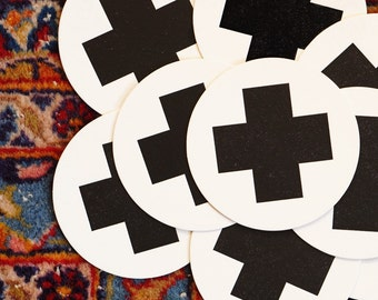 Swiss Cross Letterpress Coasters Hostess Gift Geometric Coasters for Men Coasters for Drinks Shower Christmas Gift Ideas for Men Bitcoin BTC