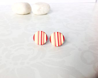 Polymer clay earrings ,Stud earrings , Everyday earrings  , Modern earrings, Small earrings, Contemporary jewelry