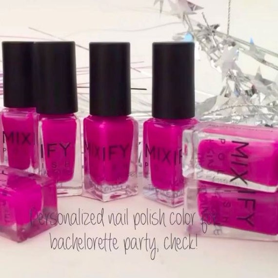 Unique create your own nail polish kit gift set pink perfect