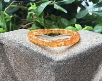 Citrine Bracelet, Stone Bracelet, Stretch Bracelet