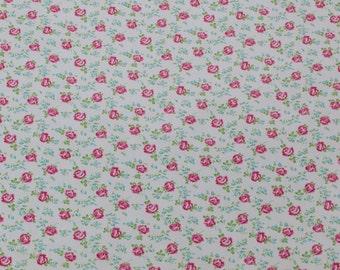 "LAMINATED Cotton  - PetiteTea Cup Rose, 56"" Wide, BPA & PVC Free"