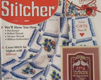 The Cross Stitcher February 1996 Magazine Volume 12 Number 6