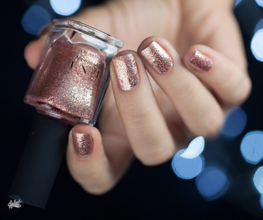 Juliette - Rose Gold Holographic Nail Polish from ilnpbrand on Etsy ...
