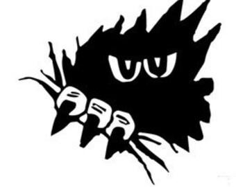 Monster vinyl decal - For Cars, Laptops, Sticker, Mirrors, etc.