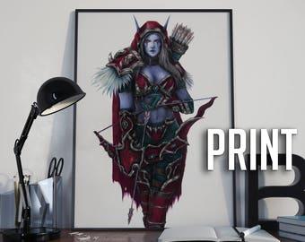 PRINT 27,9x35,6cm | Original Sylvanas