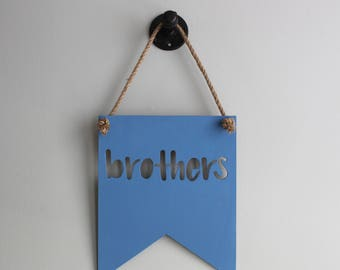 Brother Sign - Brother Gift - Big Brother Little Brother - Brother Decor - Brothers Wall Art - Boys Room Decor - Playroom Decor - Boy Cave