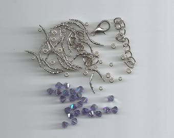 "Kit for making the bracelet ""uranie"" tanzanite ab"