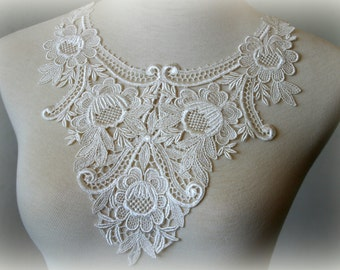 Tresors Ivory Lace Applique, Gl-039