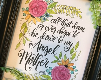 Mother's Day Gift 8x10 Art Print from orginal watercolor (frame not included)