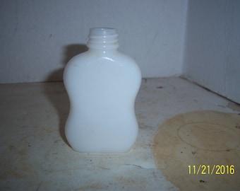 1920's 3 3/8 inch tall Medicine skin cream beauty milk glass jar
