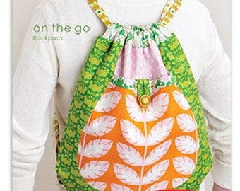 Heather Bailey On the Go Backpack Sewing Pattern, FREE SHIPPING